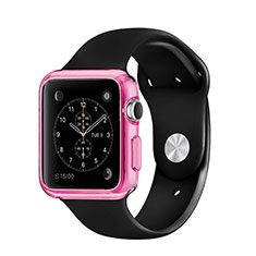 Ultra-thin Transparent Gel Soft Cover for Apple iWatch 3 42mm Pink