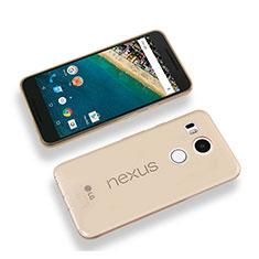 Ultra-thin Transparent Gel Soft Cover for Google Nexus 5X Gold
