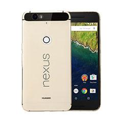 Ultra-thin Transparent Gel Soft Cover for Google Nexus 6P Gold