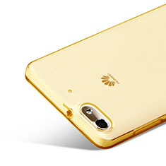 Ultra-thin Transparent Gel Soft Cover for Huawei G Play Mini Gold