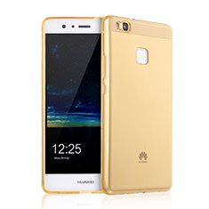 Ultra-thin Transparent Gel Soft Cover for Huawei G9 Lite Gold