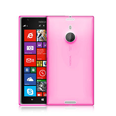 Ultra-thin Transparent Gel Soft Cover for Nokia Lumia 1520 Pink