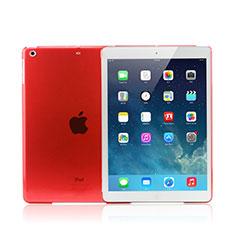 Ultra-thin Transparent Matte Finish Case for Apple iPad Mini 3 Red