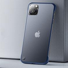 Ultra-thin Transparent Matte Finish Case U01 for Apple iPhone 11 Pro Max Blue