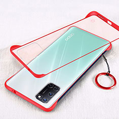 Ultra-thin Transparent Matte Finish Case U01 for Oppo A52 Red