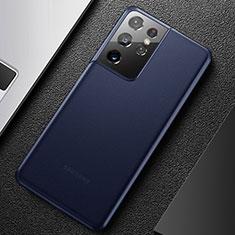 Ultra-thin Transparent Matte Finish Case U01 for Samsung Galaxy S21 Ultra 5G Blue