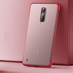 Ultra-thin Transparent Matte Finish Case U01 for Xiaomi Mi 9T Red