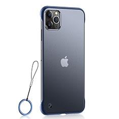 Ultra-thin Transparent Matte Finish Case U02 for Apple iPhone 11 Pro Max Blue