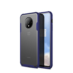 Ultra-thin Transparent Matte Finish Cover Case for OnePlus 7T Blue