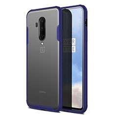 Ultra-thin Transparent Matte Finish Cover Case for OnePlus 7T Pro 5G Blue