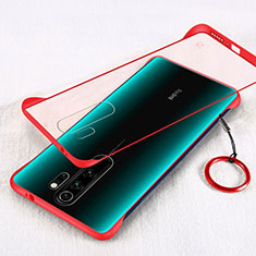 Ultra-thin Transparent Matte Finish Cover Case for Xiaomi Redmi Note 8 Pro Red