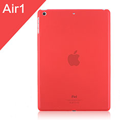 Ultra-thin Transparent Matte Finish Cover for Apple iPad Air Red