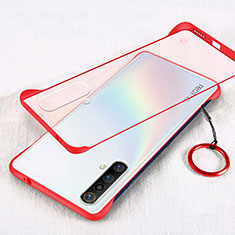 Ultra-thin Transparent Plastic Case Cover for Realme X50m 5G Red