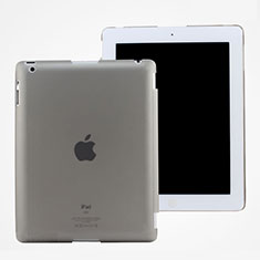 Ultra-thin Transparent Plastic Case for Apple iPad 2 Gray