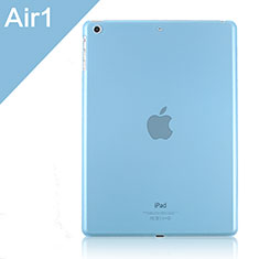 Ultra-thin Transparent Plastic Case for Apple iPad Air Sky Blue