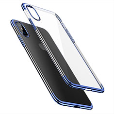 Ultra-thin Transparent Plastic Case for Apple iPhone Xs Max Blue