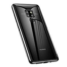 Ultra-thin Transparent TPU Soft Case Cover A02 for Huawei Mate 20 Black