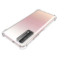 Ultra-thin Transparent TPU Soft Case Cover for Huawei P Smart (2021) Clear