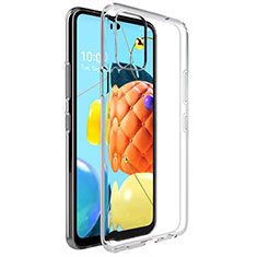 Ultra-thin Transparent TPU Soft Case Cover for LG Q52 Clear
