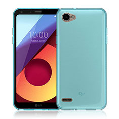 Ultra-thin Transparent TPU Soft Case Cover for LG Q6 Blue