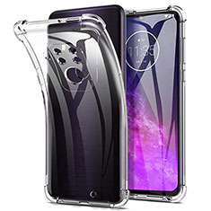 Ultra-thin Transparent TPU Soft Case Cover for Motorola Moto One Zoom Clear