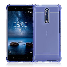 Ultra-thin Transparent TPU Soft Case Cover for Nokia 8 Clear
