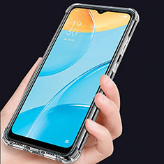 Ultra-thin Transparent TPU Soft Case Cover for Oppo A15 Clear