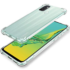 Ultra-thin Transparent TPU Soft Case Cover for Oppo A53s Clear