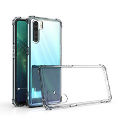 Ultra-thin Transparent TPU Soft Case Cover for Oppo A91 Clear