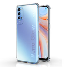 Ultra-thin Transparent TPU Soft Case Cover for Oppo Reno4 Pro 5G Clear