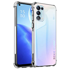 Ultra-thin Transparent TPU Soft Case Cover for Oppo Reno5 5G Clear
