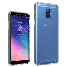 Ultra-thin Transparent TPU Soft Case Cover for Samsung Galaxy A6 (2018) Dual SIM Clear