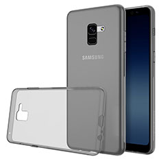 Ultra-thin Transparent TPU Soft Case Cover for Samsung Galaxy A8 (2018) A530F Gray