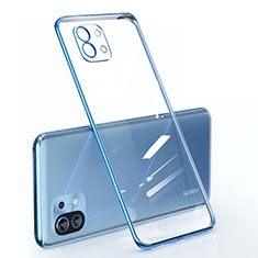 Ultra-thin Transparent TPU Soft Case Cover for Xiaomi Mi 11 5G Blue