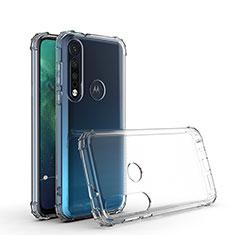 Ultra-thin Transparent TPU Soft Case Cover G01 for Motorola Moto G8 Plus Clear