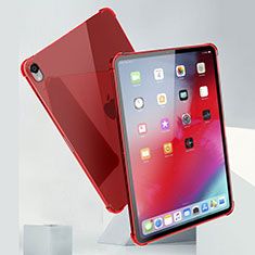 Ultra-thin Transparent TPU Soft Case Cover H01 for Apple iPad Pro 11 (2018) Red
