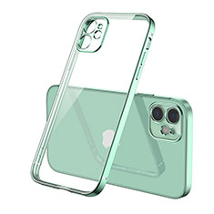 Ultra-thin Transparent TPU Soft Case Cover H01 for Apple iPhone 12 Green