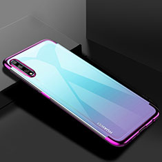 Ultra-thin Transparent TPU Soft Case Cover H01 for Huawei Enjoy 10S Purple