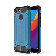 Ultra-thin Transparent TPU Soft Case Cover H01 for Huawei Enjoy 8e Blue