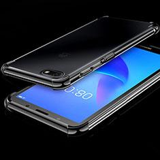 Ultra-thin Transparent TPU Soft Case Cover H01 for Huawei Enjoy 8e Lite Black