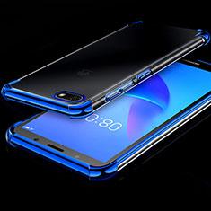 Ultra-thin Transparent TPU Soft Case Cover H01 for Huawei Enjoy 8e Lite Blue