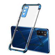 Ultra-thin Transparent TPU Soft Case Cover H01 for Huawei Enjoy Z 5G Blue
