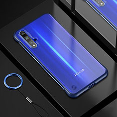 Ultra-thin Transparent TPU Soft Case Cover H01 for Huawei Honor 20 Blue