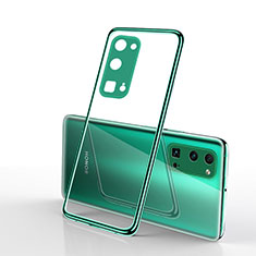 Ultra-thin Transparent TPU Soft Case Cover H01 for Huawei Honor 30 Pro Green