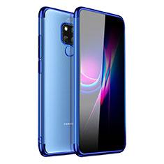 Ultra-thin Transparent TPU Soft Case Cover H01 for Huawei Mate 20 X Blue