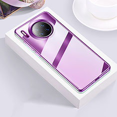 Ultra-thin Transparent TPU Soft Case Cover H01 for Huawei Mate 30 Pro 5G Purple