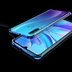 Ultra-thin Transparent TPU Soft Case Cover H01 for Huawei Nova 4e Blue