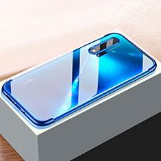 Ultra-thin Transparent TPU Soft Case Cover H01 for Huawei Nova 6 5G Blue