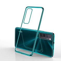 Ultra-thin Transparent TPU Soft Case Cover H01 for Huawei Nova 7 5G Green