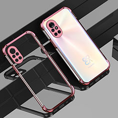 Ultra-thin Transparent TPU Soft Case Cover H01 for Huawei Nova 8 5G Rose Gold